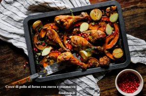 Cosce di pollo al forno con zucca e sommacco